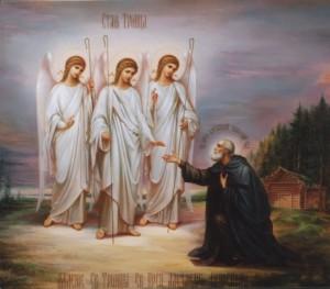 Моисей встречает ангелов Троицу