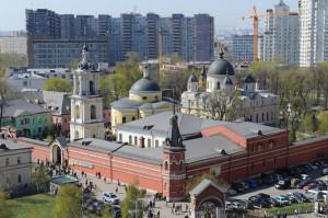 Снимок Покровского монастыря Москвы