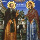 Житие преподобного Афанасия Афонского — 3. Явление Пресвятой Богородицы