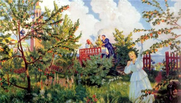 Кустодиев_Яблоневый-сад
