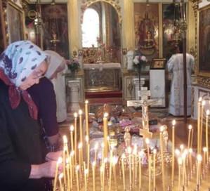 на молитве и панихиде
